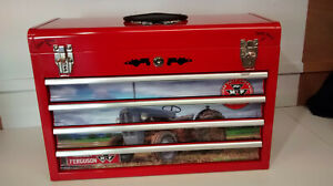 Massey Ferguson themed  specialist 4 drawer metal toolbox gift for dad?