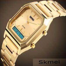 Luxueuse Montre Pour Homme SKMEI Classique Gold Affaires Analogue Digital