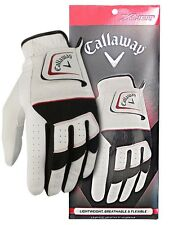 Callaway White Black Xhot Regular Flexible Coolmax Left Hand Golf Glove (Cs)