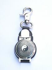Yin Yang Clip on Leather Fob Pocket Watch Ideal Chinese Gift