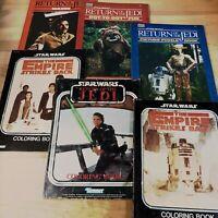 Vtg Star Wars Lot of 6 Empire Strikes Back & Return of the Jedi Coloring Books