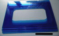 Design Tapetenschoner Tapetenschutz Schalter  2 fach transparent/blau 3er Pack