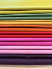 NEW RANGE - Classic Melton 100% wool fabric. 60 COLOURS! Upholstery & Curtains