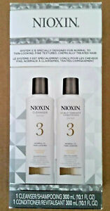 Nioxin System 3 Cleanser and Scalp Therapy Conditioner Set of 10.1oz Bottles