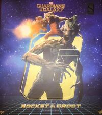 Guardians of Galaxy Rocket and Groot Sideshow Hot Toys Exclusive 1:6 Scale