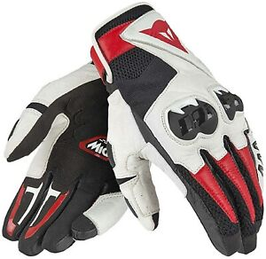 Glove Motorcycle Man Dainese Mig c2 Red White