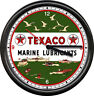 Texaco Marine Boat Lube Gas Service Station Attendant Pump Sign Wall Clock