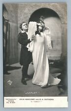 SUFFRAGIST AMERICAN ACTRESS J MARLOWE in HAMLET ANTIQUE REAL PHOTO POSTCARD RPPC