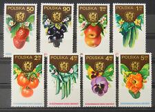 - Polen Poland 1974 Mi. Nr. 2329-2336 ** postfrisch MNH Obst fruit