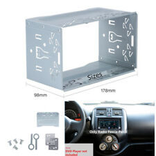 Metal Mounting Cage Installation Frame Kit for VW 2 Din Stereo DVD Radio Player