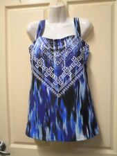 "AUTOGRAPH MULTI BLUE ""PATTERNED"" TANKINI SWIM SUIT/BATHERS SZ 16-NEW STOCK IN!!!"