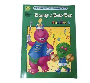 Barney and Baby Bop Coloring Book 1994 Vintage Golden Book Fun Book Purple Dinos