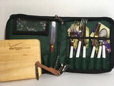 Cheese Board Picnic Tote with Cutting Board & Utensils Green Color