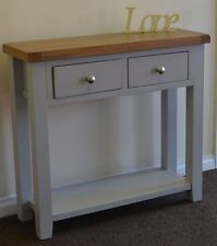 Oak Console Tables without Assembly Required