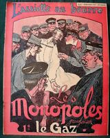 "L'Assiette au Beurre # 87 ""Les Monopoles"" 1902 French Economic Satire Cartoons"