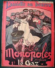 """L'Assiette au Beurre # 87 """"Les Monopoles"""" 1902 French Economic Satire Cartoons"""