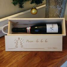 Wooden Box for Wine Personalized Name Box Adults Christmas Present Spirit Case