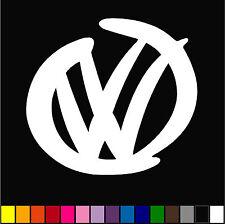 VW LOGO STANCE GTI RABBIT JETTA GULF PASSAT EURO CAR WINDOW VINYL BUMPER STICKER