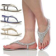 Flache Damen-Sandalen & -Badeschuhe aus Synthetik elegante