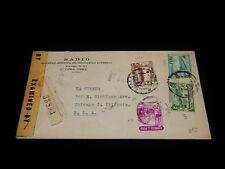 VintageCover,LIMA,PERU,Multi-Franked Registered Letter To Chicago,IL,Censor,1945