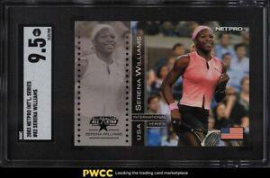 2003 Netpro International Series Tennis Serena Williams ROOKIE RC #82 SGC 9.5
