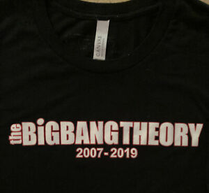 The Big Bang Theory TV SHOW SERIES FINALE CAST CREW PANAVISION 2 Sided T-Shirt M