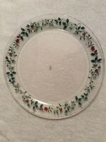 Pfaltzgraff Winterberry Round Serving Platter / Parties Holly Christmas Holiday
