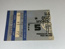 Queen 1977 Original Vintage Concert Ticket Stub Freddie Mercury Thin Lizzy Usa