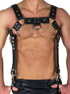 BoXer Leather Bracer Harness Black sexy érotique pour hommes Body Wrestling