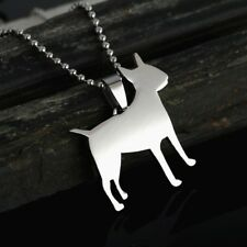 Stainless Steel English Bull Terrier Bully Gladiator Pet Dog Charm Pendant Tag