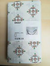 IKEA ENIGT Tischdecke weiß mit Blumenmuster,145x240cm NEU&OVP !