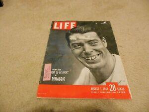 """1949 Life Magazine Joe Dimaggio Autograph Cover w """"Best Wishes"""" Inscription"""