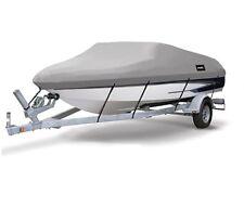 "17-19Ft SuperHeavy Duty Fabric Waterproof Boat Cover V-Hull 95"" Beam B"