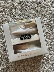 """NEW Freshly Picked Mini Sole City Moccasins """"The Child"""" Baby Yoda Size 3 RARE"""