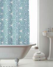 NEW Quality PEVA Shower Bathroom CURTAIN with DECORATIVE RINGS 180cm x 180cm