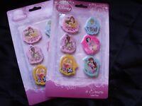 NWT- Lot of 2 Disney Princess  Pencil Eraser Set 6 count Per Pack