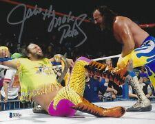Jake The Snake Roberts Signed 8x10 Photo BAS COA WWE w/ Macho Man Randy Savage