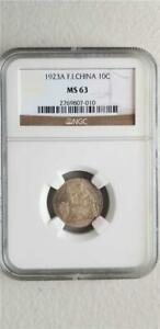 French Indochina 10 Cents 1923A NGC MS 63