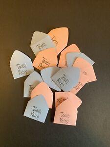Set Of 15 Handmade Tiny Tooth Fairy Envelopes
