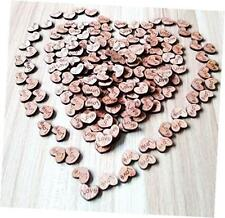 200pcs rustic wooden love heart wedding table scatter decoration crafts