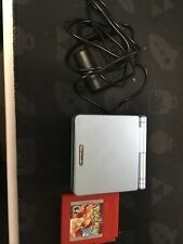 Nintendo GameBoy Advance SP AGS 101 pearl blue with Pokemon red