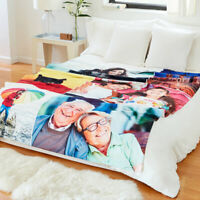 Personalized Blanket- Fleece Photo Winter Blanket Any Image Any Text Any Colour