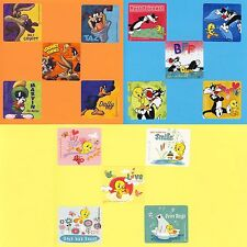15 Looney Tunes Assorted - Tweety Bird, Sylvester, Taz, Daffy - Large Stickers