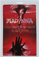 MADONNA 2001 Drowned World Tour Laminated Backstage Pass