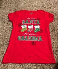 Holiday Time Girl's Christmas T-Shirt Size M (8-10) Christmas Tree