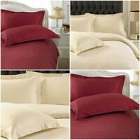 Luxury Egyptian Cotton Duvet Cover Set Sateen Strip Bedding sets Single King