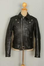 Vtg 60s OAKBROOK Sears Steerhide Leather D-Pocket Motorcycle Jacket 36