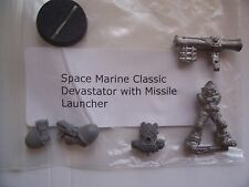 WARHAMMER 40K NEW SPACE MARINE DEVASTATOR with MISSILE LAUNCHER  METAL MODEL,