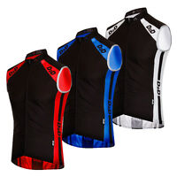 D2D Men's Windskin Lightweight Windproof Cycling Gilet - Red, Blue or White