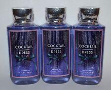 3 BATH & BODY WORKS COCKTAIL DRESS SHOWER GEL WASH 10 OZ LARGE PEONIES MUSK LOT